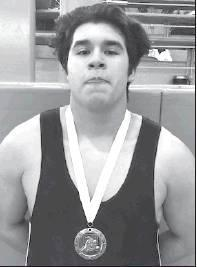 Yoe wrestler Domanique Borgas placed third at the Lee Invitational Varsity Tournament last weekend.