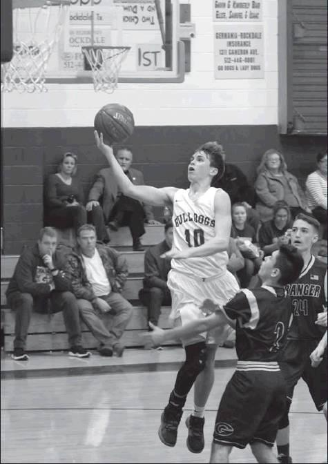 Teresa Ging/THE THORNDALE CHAMPION Ty Kovar lays the ball up for two.